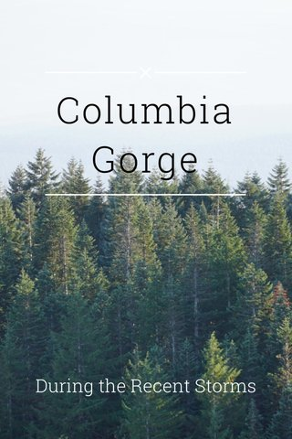 Columbia Gorge During the Recent Storms