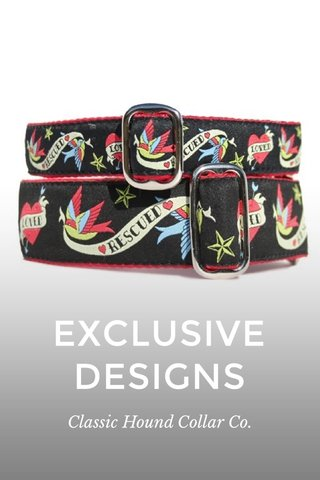 EXCLUSIVE DESIGNS Classic Hound Collar Co.