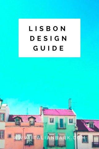 LISBON DESIGNGUIDE WWW.ITALIANBARK.COM
