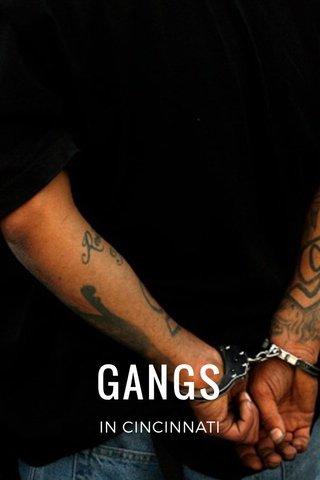 GANGS IN CINCINNATI