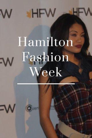 Hamilton Fashion Week
