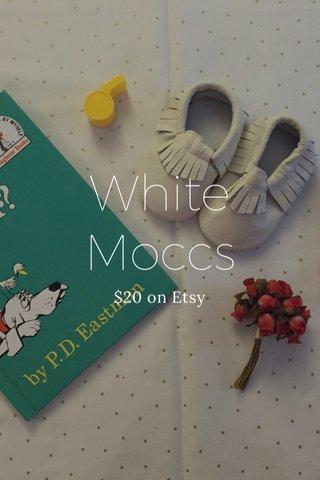White Moccs $20 on Etsy
