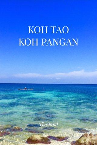 KOH TAO KOH PANGAN Thailand
