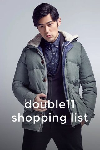 double11 shopping list