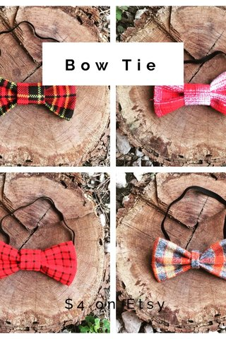 Bow Tie $4 on Etsy
