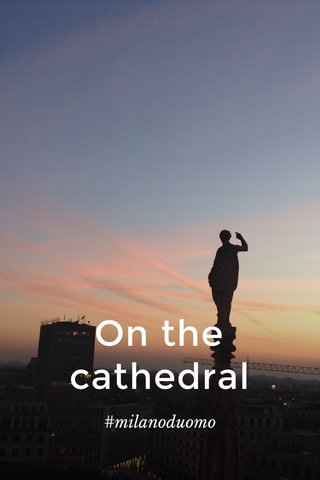 On the cathedral #milanoduomo