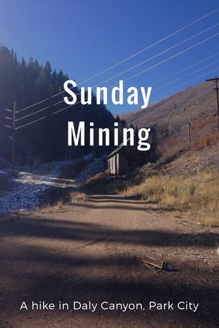 Sunday Mining A hike in Daly Canyon, Park City