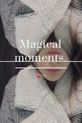 Magical moments. I❤️NY