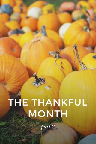 THE THANKFUL MONTH part 2