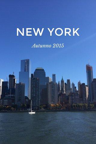 NEW YORK Autunno 2015