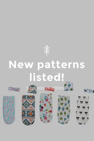 New patterns listed! || cocoon swaddles ||