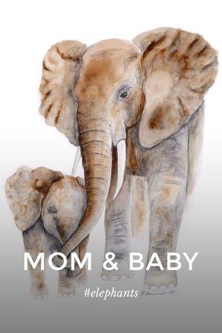MOM & BABY #elephants