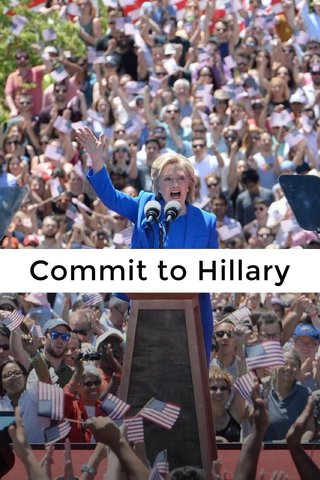 Commit to Hillary