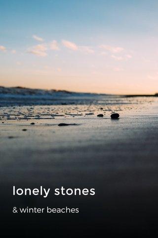 lonely stones & winter beaches