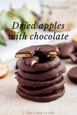 Dried apples with chocolate
