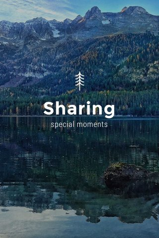Sharing special moments