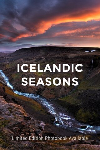 ICELANDIC SEASONS Limited Edition Photobook Available