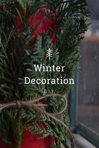 Winter Decoration D.I.Y.