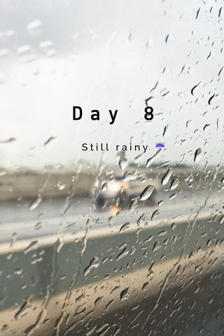 Day 8 Still rainy ☔️