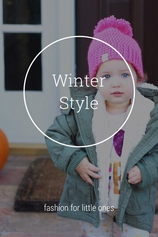 Winter Style fashion for little ones