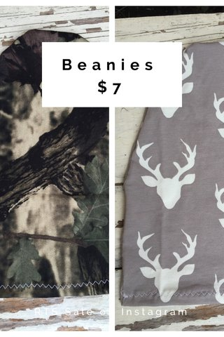Beanies $7 RTS Sale on Instagram