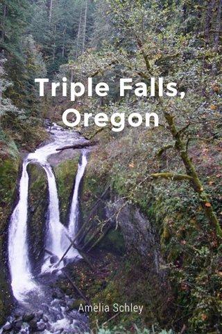 Triple Falls, Oregon Amelia Schley