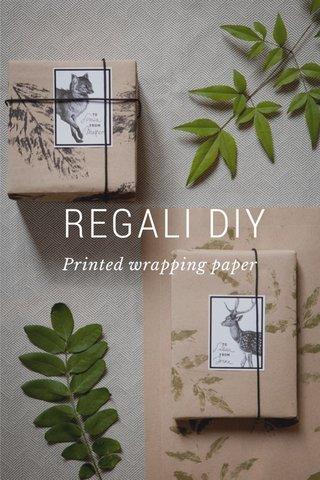 REGALI DIY Printed wrapping paper