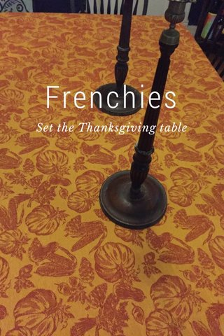 Frenchies Set the Thanksgiving table