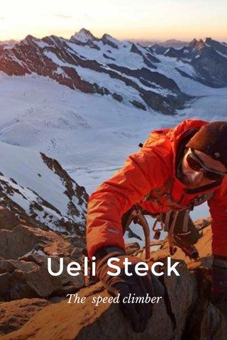 Ueli Steck The speed climber
