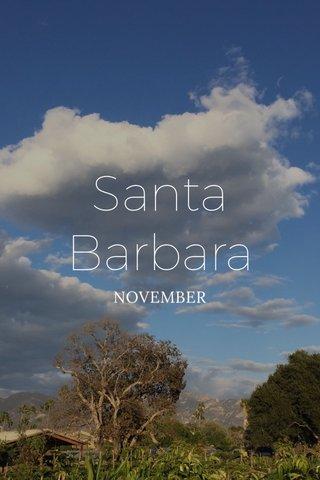 Santa Barbara NOVEMBER