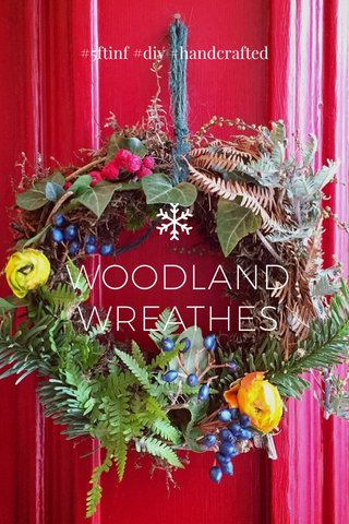 WOODLAND WREATHES #5ftinf #diy #handcrafted