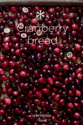 Cranberry bread #christmas #food