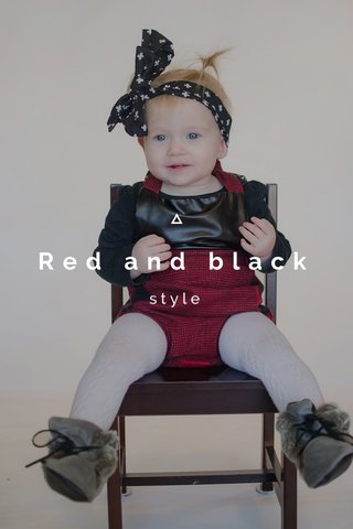 Red and black style