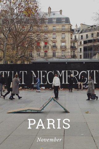 PARIS November