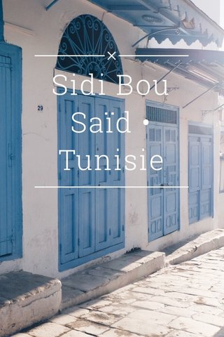 Sidi Bou Saïd • Tunisie