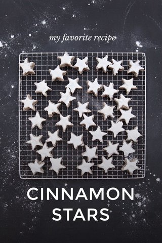 CINNAMON STARS my favorite recipe