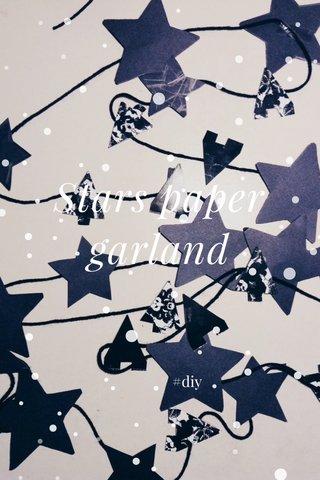 Stars paper garland #diy
