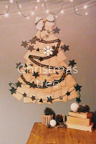 Christmas tree #DIY