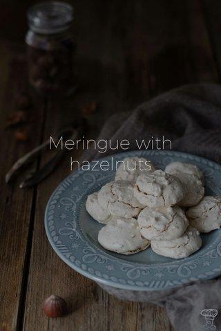 Meringue with hazelnuts