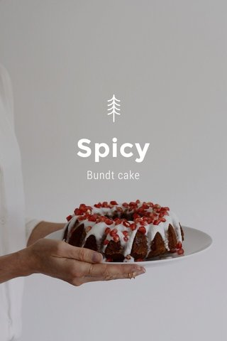 Spicy Bundt cake