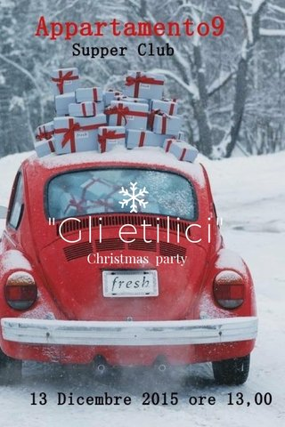 """Gli etilici"" Christmas party"