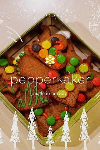 pepperkaker made in norway