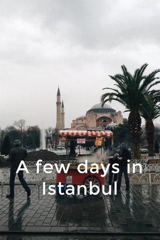 A few days in Istanbul