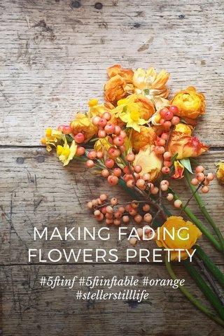 MAKING FADING FLOWERS PRETTY #5ftinf #5ftinftable #orange #stellerstilllife