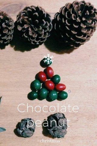 Chocolate peanut #christmas