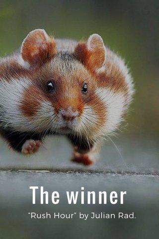 """The winner """"Rush Hour"""" by Julian Rad."""