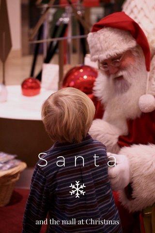 Santa and the mall at Christmas