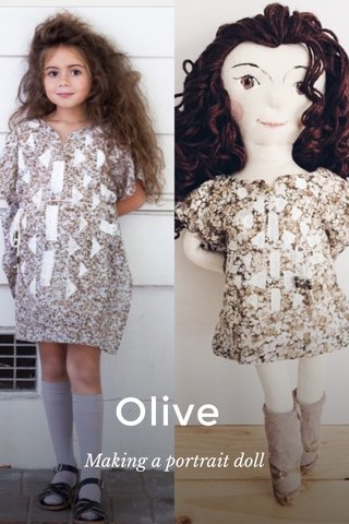 Olive Making a portrait doll