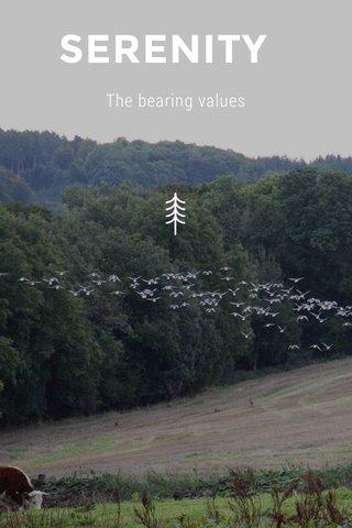 SERENITY The bearing values