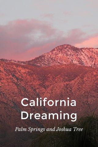 California Dreaming Palm Springs and Joshua Tree